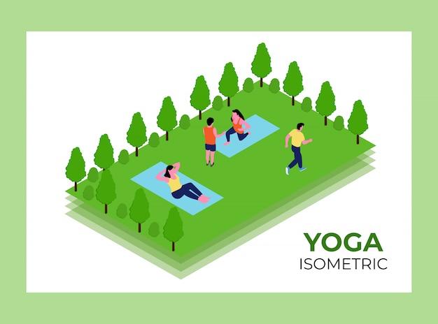 Yoga isometrische ontwerpsjabloon