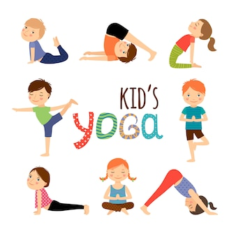 Yoga kinderen ingesteld
