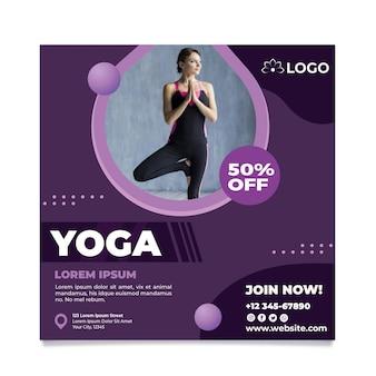 Yoga klasse folder sjabloon