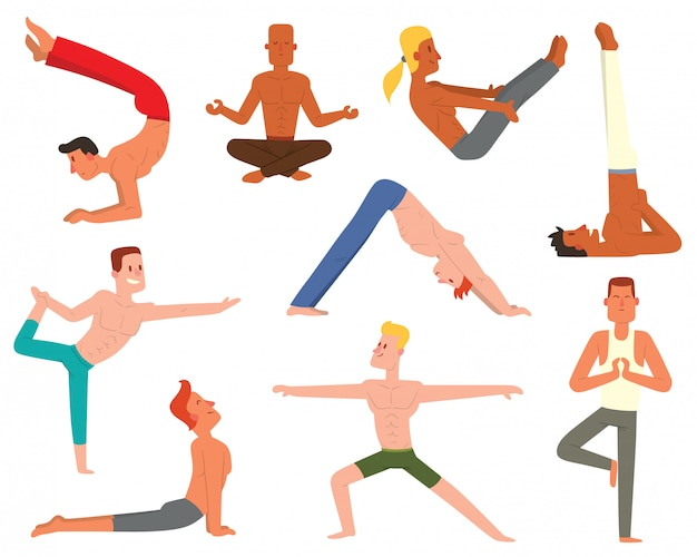 Yoga man set.