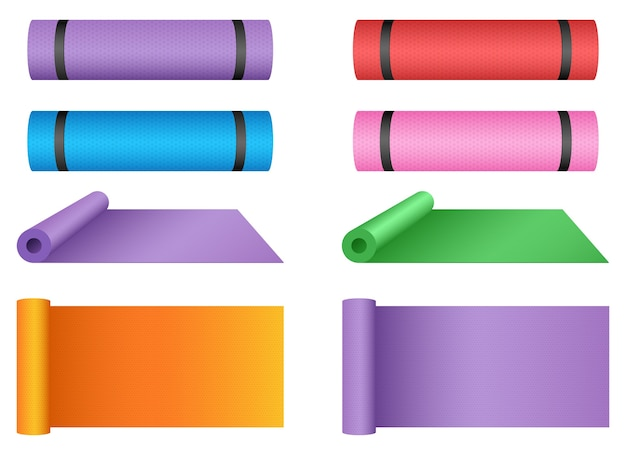 Yoga mat ontwerp illustratie geïsoleerd op een witte achtergrond