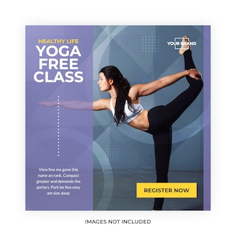 Yoga meditatie social media post