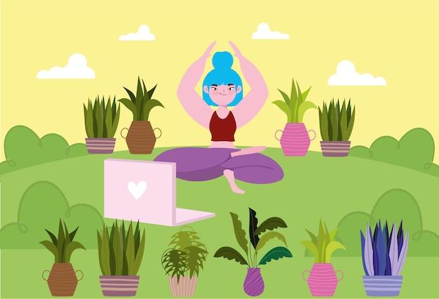 Yoga online les