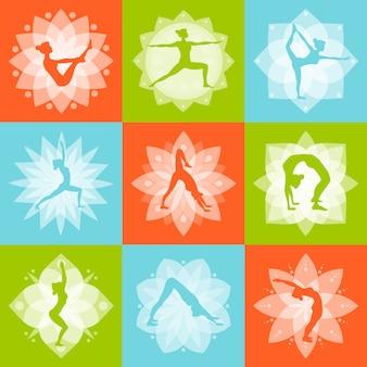 Yoga ontwerpconcept