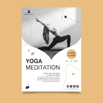 Yoga poster sjabloon