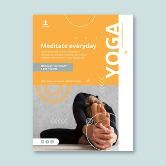 Yoga praktijk verticale flyer-sjabloon
