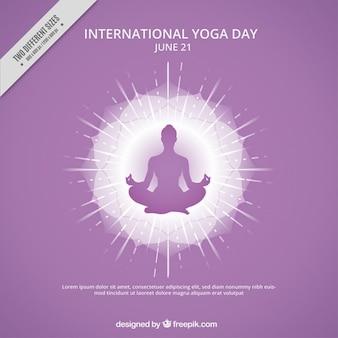 Yoga silhouet achtergrond