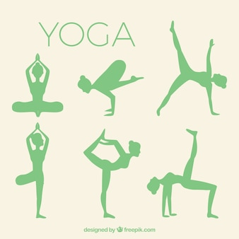 Yoga silhouettes pakken