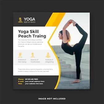 Yoga social media post en yoga traingin instagram banner