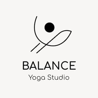 Yoga studio logo sjabloon, gezondheid & wellness business branding ontwerp vector