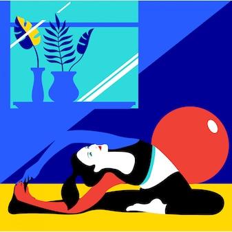 Yoga vector illustratie achtergrond