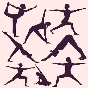 Yoga vormt silhouetten