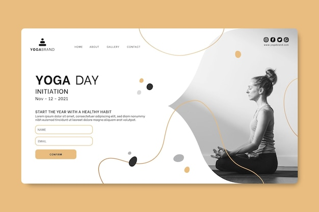 Yoga web-bestemmingspagina-sjabloon