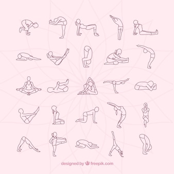 Yogahoudingen collectie
