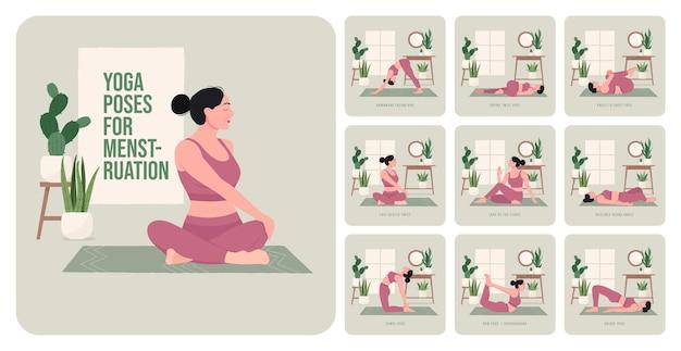 Yogahoudingen voor het bouwen van sterke billen jonge vrouw die yogahoudingen beoefent