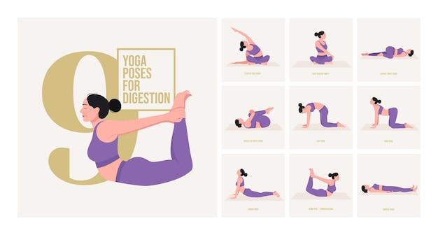 Yogahoudingen voor het opbouwen van kracht jonge vrouw die yogahoudingen beoefent