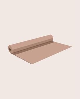 Yogamat. vector illustratie