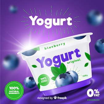 Yoghurt-advertentie
