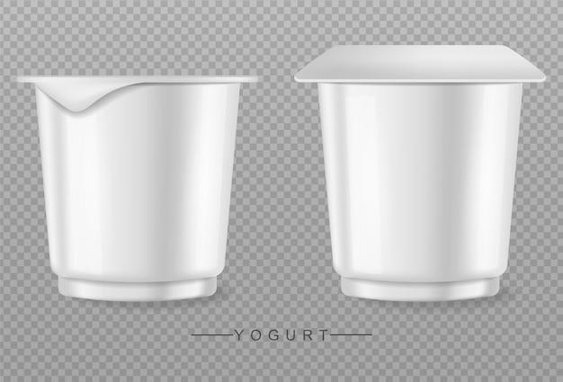 Yoghurt geïsoleerd op transparante achtergrond