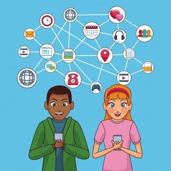 Youngs en sociale netwerken