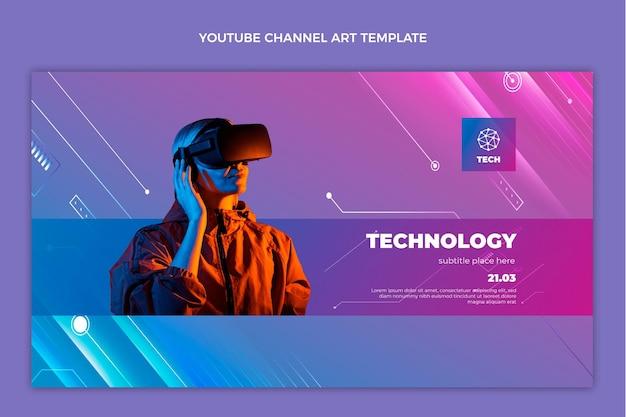 Youtube-kanaal met gradiënttextuurtechnologie
