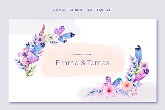 Youtube-kanaal voor aquarel boho bruiloft
