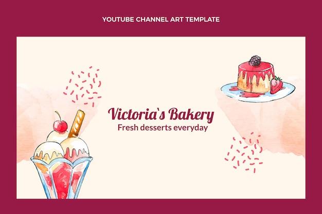 Youtube-kanaal voor aquarel desserts