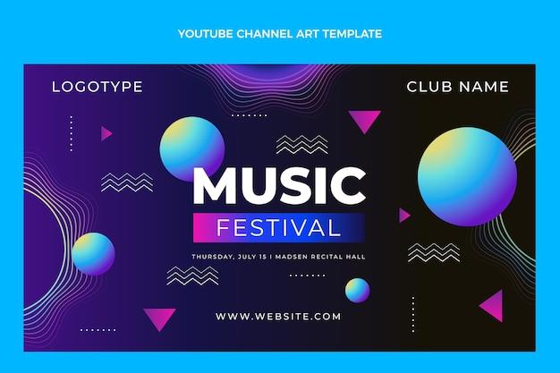 Youtube-kanaal voor muziekfestival met verloop