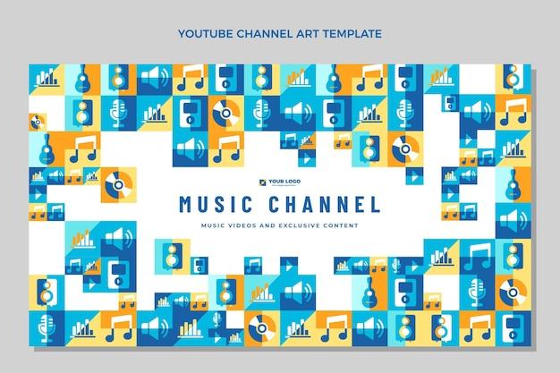 Youtube-kanaal voor plat mozaïekmuziekfestival