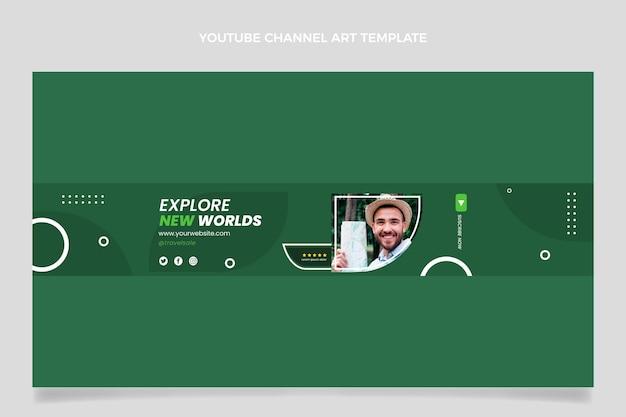 Youtube-kanaal voor reizen met plat ontwerp