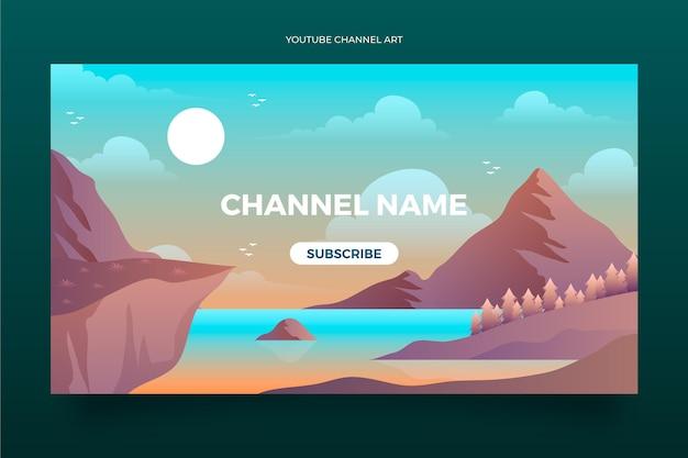 Youtube-kanaalafbeeldingen met gradiëntavontuur