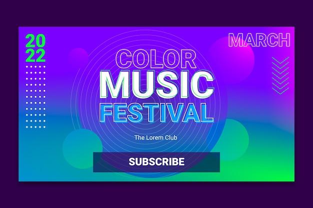 Youtube-kanaalafbeeldingen met halftoontechnologie met kleurovergang