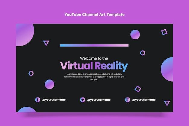 Youtube-kanaalafbeeldingen met plat ontwerp, minimale technologie
