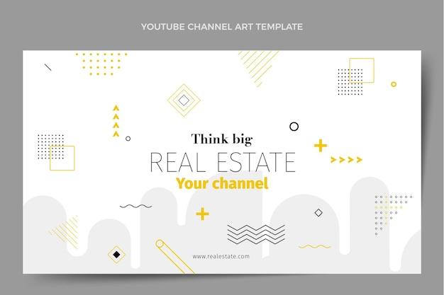 Youtube-kanaalafbeeldingen voor plat abstract geometrisch onroerend goed