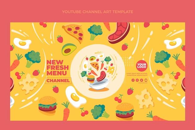 Youtube-kanaalafbeeldingen voor plat eten