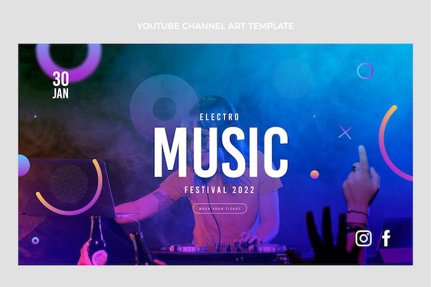 Youtube-kanaalkunst met verloopmuziekfestival