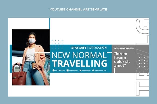 Youtube-kanaalsjabloon voor platte reizen
