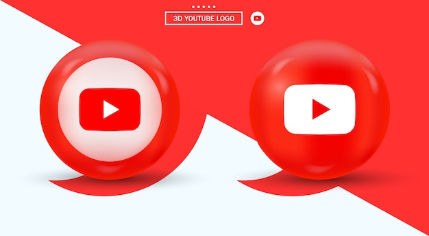 Youtube-logo in cirkel moderne stijl sociale media-logo