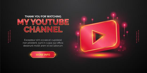Youtube-logo-ontwerp voor promotie van youtube-videokanalen