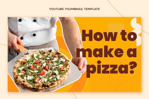 Youtube-miniatuur voor eten met plat ontwerp