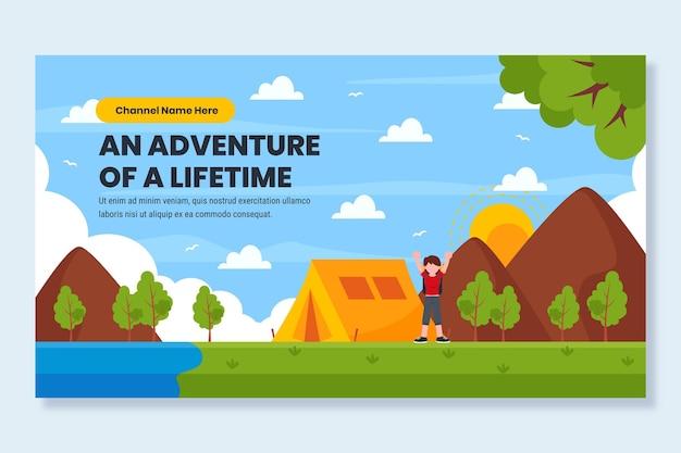 Youtube-miniatuursjabloon voor plat avontuur