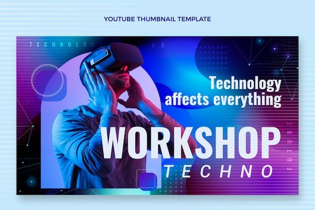Youtube-thumbnail van abstracte vloeistoftechnologie