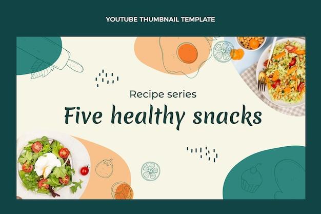 Youtube-thumbnail van handgetekend eten