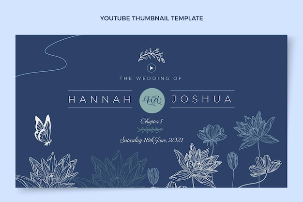 Youtube-thumbnail van handgetekende bruiloft