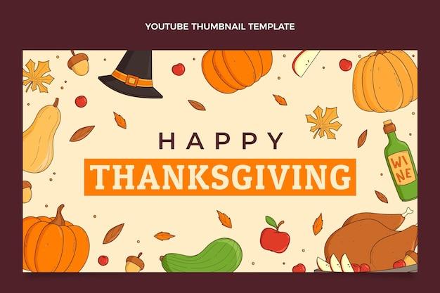 Youtube-thumbnail van handgetekende thanksgiving