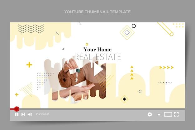 Youtube-thumbnail van plat abstract geometrisch onroerend goed