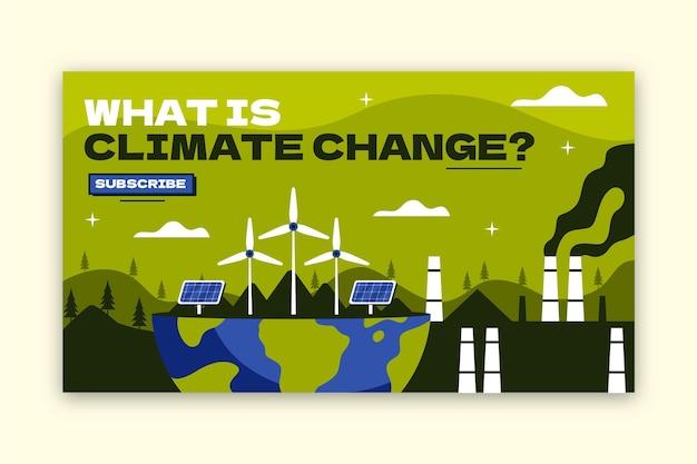 Youtube-thumbnail van plat ontwerp klimaatverandering