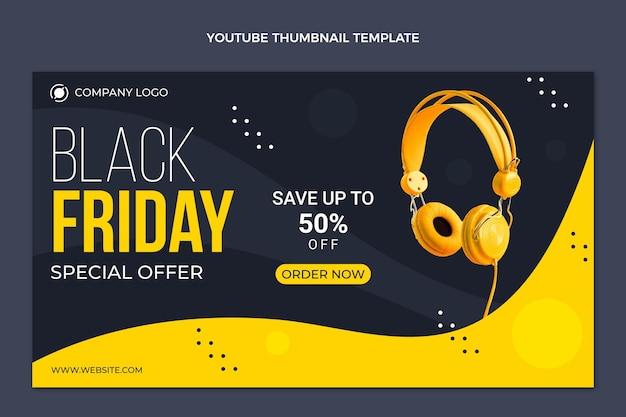 Youtube-thumbnail van platte zwarte vrijdag