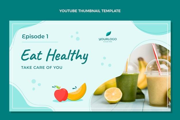 Youtube-thumbnail voor plat eten