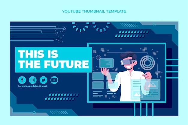Youtube-thumbnail voor platte minimale technologie